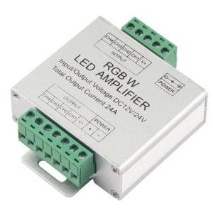 Amplificator Semnal Banda RGBW Montaj Profesional 288W 24A
