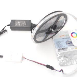 Kit Banda led 5Metri RGB 5050, 60led/m ip68 , Transformator 5A, Telecomanda cu TouchScreen