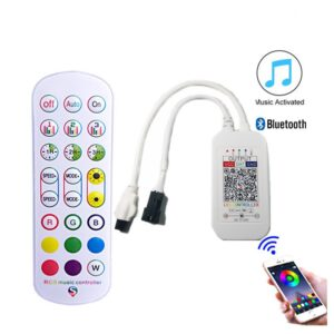Controler muzical cu telecomanda 24 taste bluetooth 1 iesire pentru banda led digitala