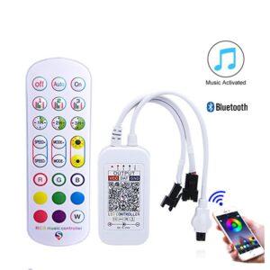 Controler muzical cu telecomanda 24 taste bluetooth 2 iesiri pentru banda led digitala