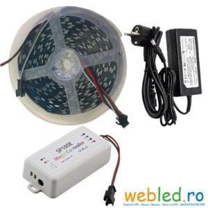 Kit Banda LED Digitala WS2812B 60led/m 5050 IP20 5 metri